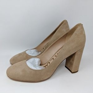 Sam Edelman Stillson women's pump oatmeal suede